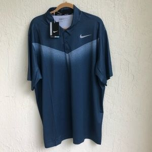 Nike Golf Shirt 2XL Standard Fit Blue